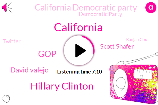 California,Hillary Clinton,GOP,David Valejo,Scott Shafer,California Democratic Party,Democratic Party,Twitter,Ranjan Cox,Nancy Pelosi,IBM,Republican Party,Comcast,Steny Hoyer,Lago,Republicans,Marie,Dianne Feinstein,La Times