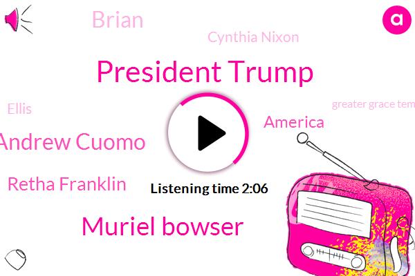 President Trump,Muriel Bowser,Andrew Cuomo,Retha Franklin,America,Brian,Cynthia Nixon,Ellis,Greater Grace Temple,Twitter,Paul Manafort,Chicago,New York,White House,Fraud,NBC