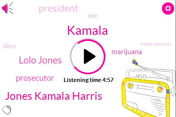 Jones Kamala Harris,Lolo Jones,Kamala,Prosecutor,Marijuana,President Trump,Alice,Marie Johnson.,San Francisco