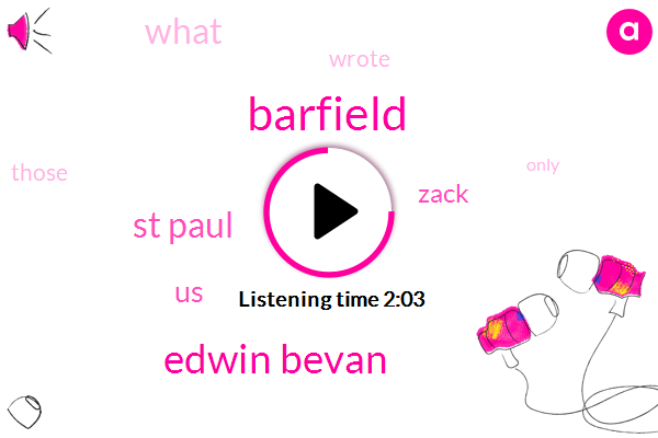 Barfield,Edwin Bevan,St Paul,United States,Zack