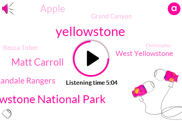 Yellowstone National Park,Yellowstone,Matt Carroll,Park Landale Rangers,West Yellowstone,Apple,Grand Canyon,Becca Tober,Christopher,Area Co,China,Gabrielle Collins Crystal Waters,Leah,Brad Care,Jackson Hole,Researcher,John,Mike,Executive Producer