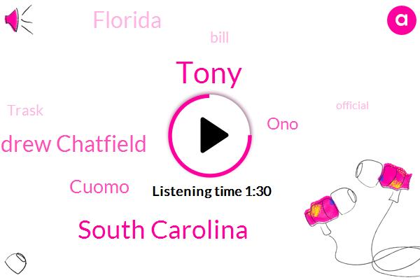 Tony,South Carolina,Andrew Chatfield,Cuomo,ONO,Florida,Bill,Trask,Official,Israel,Georgia