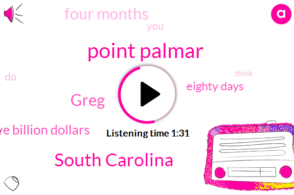 Point Palmar,South Carolina,Greg,Five Billion Dollars,Eighty Days,Four Months