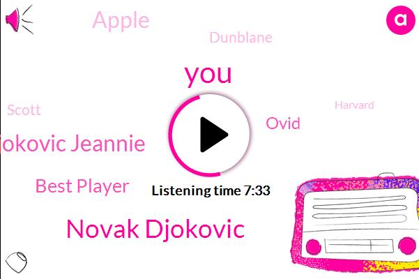 Tennis,Novak Djokovic,Djokovic Jeannie,Best Player,Ovid,Apple,Dunblane,Scott,Harvard
