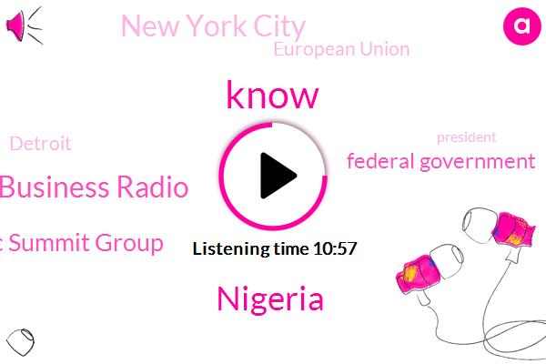 Nigeria,Africa Business Radio,Nigeria Economic Summit Group,Federal Government,Lagos,New York City,European Union,Detroit,President Trump,Germany,Korea,Kobe,Abu John Ogun,United States,Medicare,Nets,Barbaro