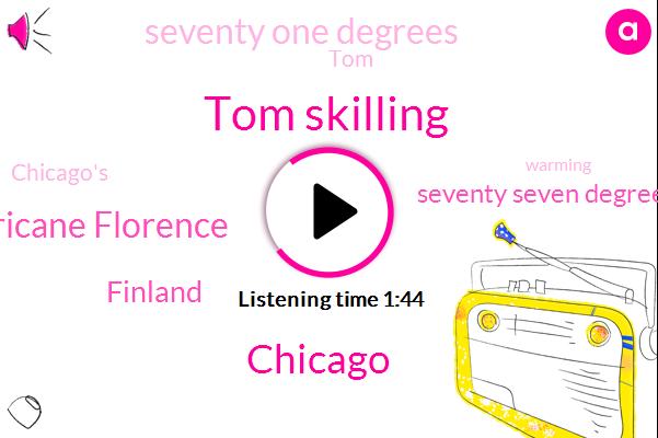 Tom Skilling,WGN,Chicago,Hurricane Florence,Finland,Seventy Seven Degrees,Seventy One Degrees