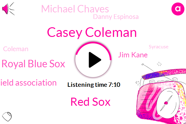 Casey Coleman,Red Sox,Royal Blue Sox,Blue Cross Blue Shield Association,Jim Kane,Michael Chaves,Danny Espinosa,Coleman,Baseball,Syracuse,Buffalo,Lynn Castio,Mets,Harare,Alex,Sam Travis,Josh Mauer,Mike Schuyler,Florida