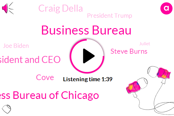 Business Bureau,Better Business Bureau Of Chicago,President And Ceo,Cove,Steve Burns,Craig Della,President Trump,Joe Biden,Juliet,Google,Ernest,Illinois