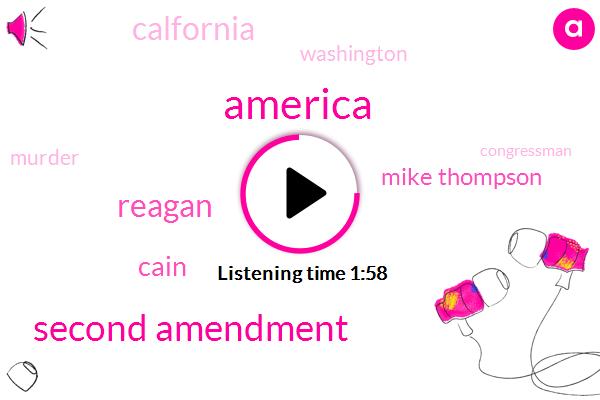 America,Second Amendment,Reagan,Cain,Mike Thompson,Calfornia,Washington,Murder,Congressman,Congressman Thompson