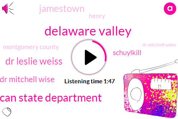 Delaware Valley,American State Department,Dr Leslie Weiss,Dr Mitchell Wise,Schuylkill,Jamestown,Henry,Montgomery County,Dr Mitchell Weiss,University Of Pennsylvania,Williams Steinberg,Florida,Howard Kyw,Philadelphia,Delaware River