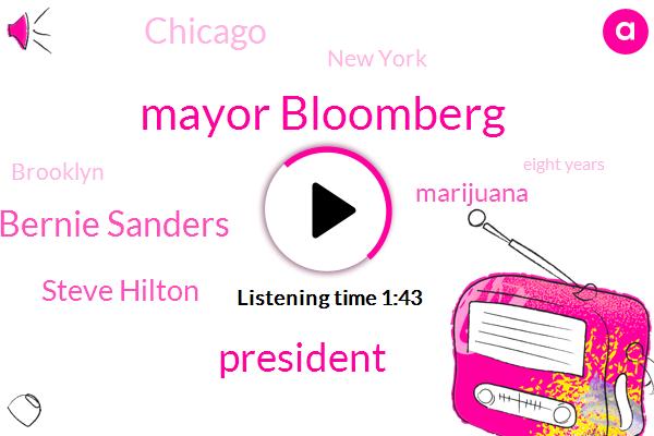 Mayor Bloomberg,President Trump,Bernie Sanders,Steve Hilton,Marijuana,Chicago,New York,Brooklyn,Eight Years,Fifty Four Percent