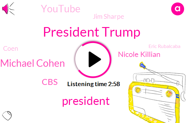 President Trump,Michael Cohen,CBS,Nicole Killian,Youtube,Jim Sharpe,Coen,Eric Rubalcaba,Perjury,Kearney,Sean Hannity,Steve Kathan,Fox News,Constantine Makala,Partner,San Diego,Congo,Attorney