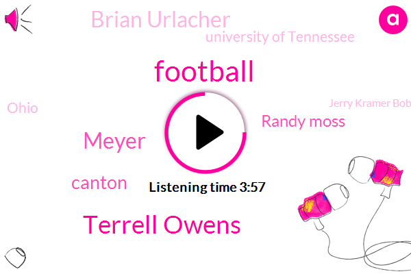 Football,Terrell Owens,Meyer,Canton,Randy Moss,Brian Urlacher,University Of Tennessee,Ohio,Jerry Kramer Bobby Beth,Chattanooga,Brian Dawkins,Robert Brazil,Engineer,TEO,Tara