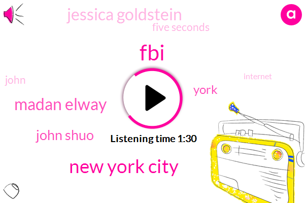 FBI,New York City,Madan Elway,John Shuo,York,Jessica Goldstein,Five Seconds