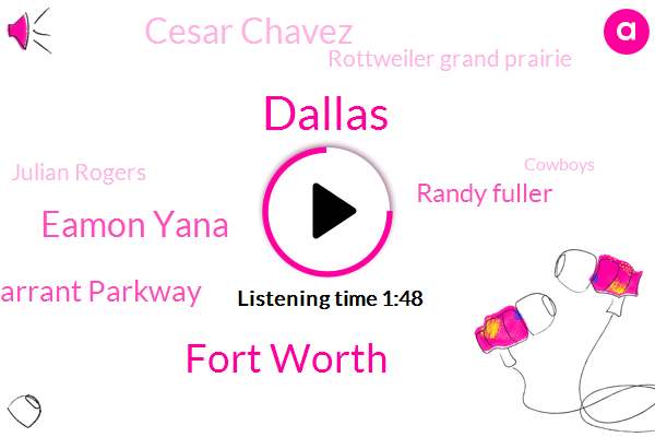 Dallas,Fort Worth,Eamon Yana,Tarrant Parkway,Randy Fuller,Cesar Chavez,Rottweiler Grand Prairie,Julian Rogers,Cowboys,Mike Fisher,Plano,Colorado,Macarthur,Gary,Jim Miller,Cylcing