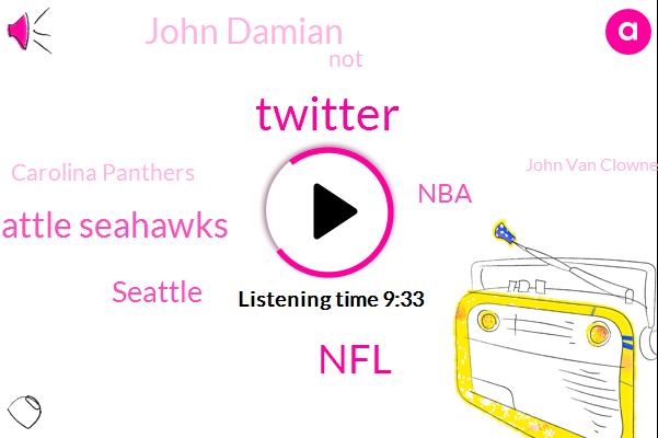 Twitter,NFL,Seattle Seahawks,Seattle,NBA,John Damian,Carolina Panthers,John Van Clowney,Panthers,Don Danillon Crowley,NFC,Walden,Gorkhas,Dan Slash,John