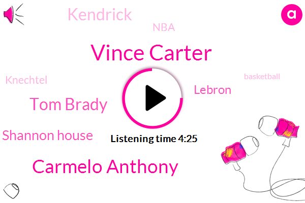 Vince Carter,Carmelo Anthony,Tom Brady,Shannon House,Lebron,Kendrick,NBA,Knechtel,Basketball,Senate,Emoji,Hawks,Jenny,LEE,Jeff,Iraq,Camilla,Seventeen Minutes,Twenty Second,Twelve Years