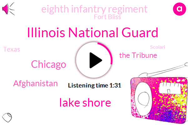Illinois National Guard,Lake Shore,Chicago,Afghanistan,The Tribune,Eighth Infantry Regiment,Fort Bliss,Texas,Scolari,Comcast,Eighty Five Degrees,Eighty Four Degrees,Thirty Minutes