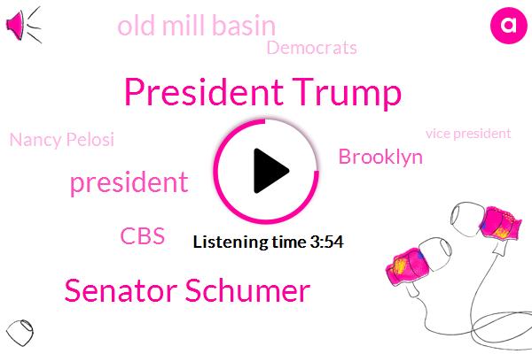President Trump,Senator Schumer,CBS,Brooklyn,Old Mill Basin,Democrats,Nancy Pelosi,Vice President,Senate,New York,Congressman Max Rose,Congressman Rose,Washington Post,Rush Limbaugh,Laura Ingram,Manhattan,Canarsie Tunnel