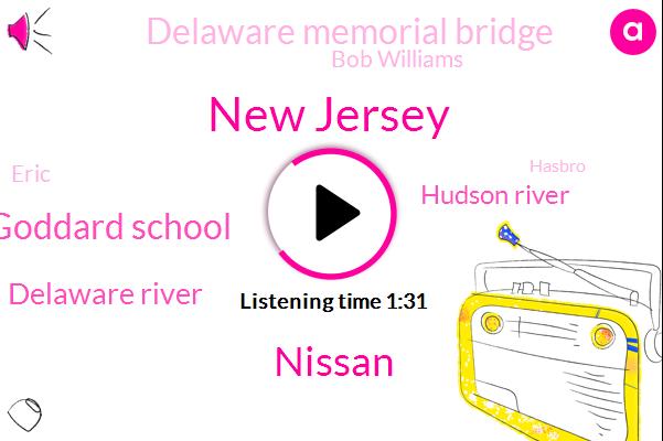 New Jersey,Goddard School,Nissan,Delaware River,Hudson River,Delaware Memorial Bridge,Bob Williams,Eric,Hasbro,TOM,Meyer,Fifteen Minutes,Sixteen W