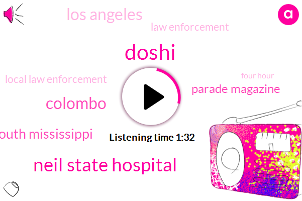 Doshi,Neil State Hospital,Colombo,South Mississippi,Parade Magazine,Los Angeles,Law Enforcement,Local Law Enforcement,Four Hour