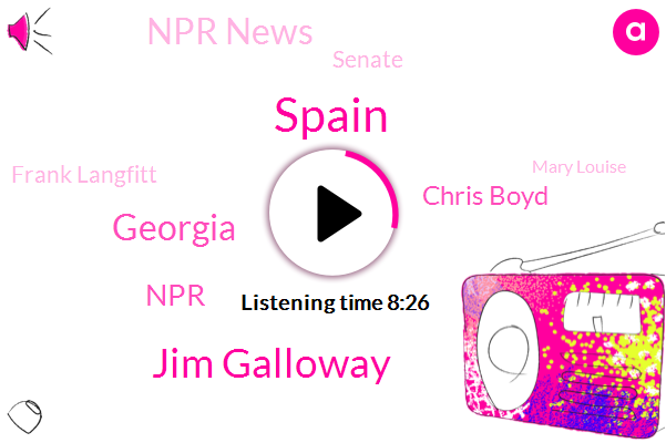 Spain,Jim Galloway,Georgia,Chris Boyd,Npr News,NPR,Senate,Frank Langfitt,Mary Louise,Government,England,UK,Mary Louise Kelly,Department Of Health And Social Care,The Atlanta Journal,Sue Wilson,Kqed,London,Canary Islands