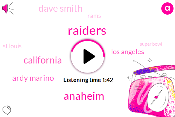 Raiders,California,Anaheim,Ardy Marino,Los Angeles,Dave Smith,Rams,St Louis,Super Bowl,Sean Turner,Anaheim Stadium,Tori