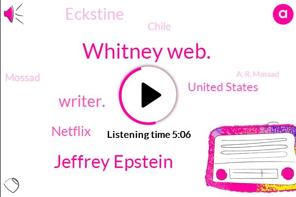 Whitney Web.,Jeffrey Epstein,Writer.,Netflix,United States,Eckstine,Chile,Mossad,A. R. Massad,Ron Paul Institute,Kate,Twenty Percent