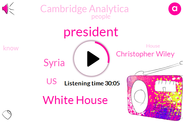 President Trump,White House,Syria,United States,Christopher Wiley,Cambridge Analytica