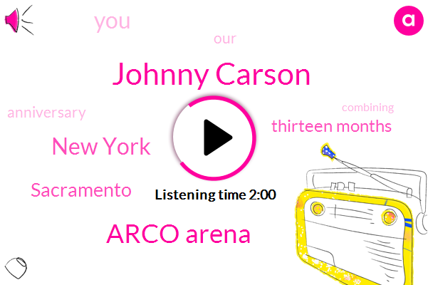 Johnny Carson,Arco Arena,New York,Sacramento,Thirteen Months