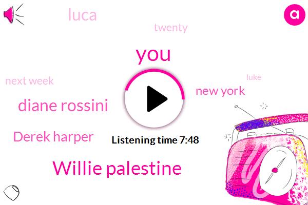 Willie Palestine,Diane Rossini,Derek Harper,New York,Luca,Twenty,Next Week,Luke,Jay Will,Twenty Five Million,Forty,Julio,Jake,Last Night,JAY,Cole Beasley,Wallace,Williams,Two Point