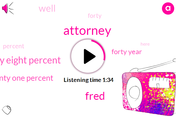 Attorney,Fred,Forty Eight Percent,Twenty One Percent,Forty Year