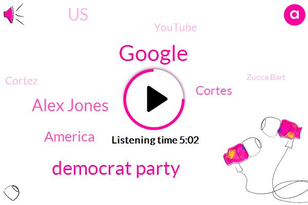Google,Democrat Party,Alex Jones,America,Cortes,United States,Youtube,Cortez,Zucca Bart,Corey,Kansas,Research Analyst,Brent Welder,Zuckerberg,Kratz,Michigan,Bush