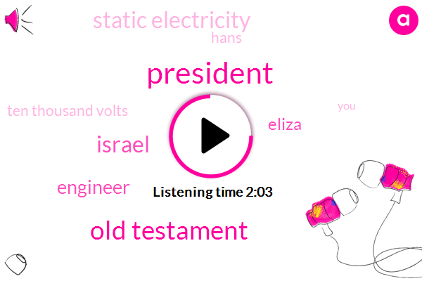 President Trump,Old Testament,Israel,Engineer,Eliza,Static Electricity,Hans,Ten Thousand Volts