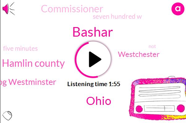 Bashar,Ohio,Hamlin County,Joel Herzog Westminster,Westchester,Commissioner,Seven Hundred W,Five Minutes