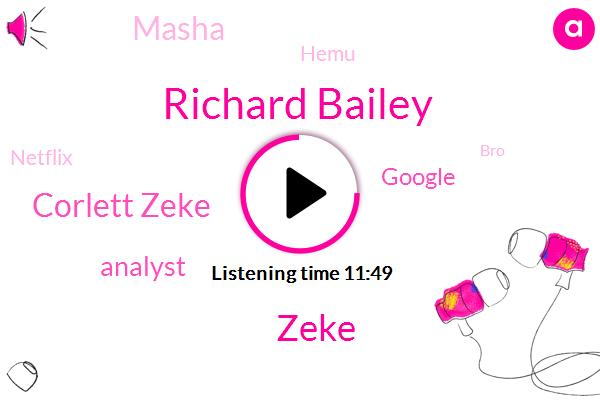 Richard Bailey,Zeke,Corlett Zeke,Analyst,Google,Masha,Hemu,Netflix,BRO,ABE,Google Chronicle,Jesus,Marshall Web,Amazon Glacier,Alpha
