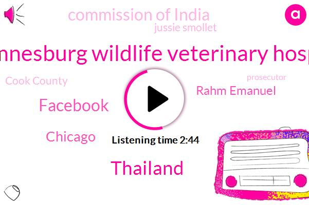 Johannesburg Wildlife Veterinary Hospital,Thailand,Facebook,Chicago,Rahm Emanuel,Commission Of India,Jussie Smollet,Cook County,FOX,Prosecutor,Tim Maguire,Attorney,Official,AP,Google,Twitter