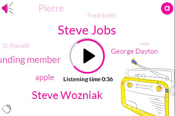 Steve Jobs,Steve Wozniak,Founding Member,Apple,George Dayton,Pierre,Fred Smith,D. Ronald