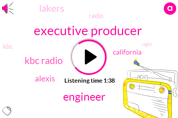 Executive Producer,Engineer,Kbc Radio,Alexis,California,Lakers