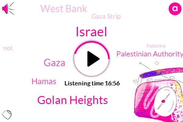 Israel,Golan Heights,Gaza,Hamas,Palestinian Authority,West Bank,Gaza Strip,Palestine,Syria,Israeli Administration,Des Cantons,United States,Jerusalem,Prime Minister,Brecca