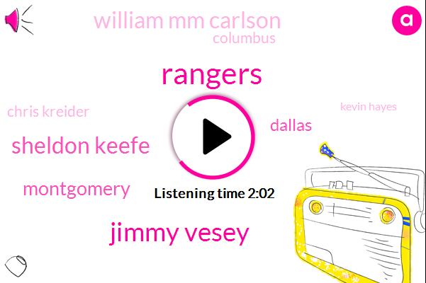 Rangers,Jimmy Vesey,Sheldon Keefe,Montgomery,Dallas,William Mm Carlson,Columbus,Chris Kreider,Kevin Hayes,Quinn,Brady Shea,NHL,William Cross,Five Years,Two Years