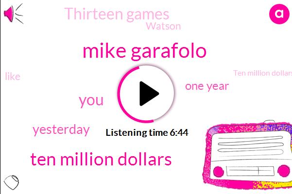Mike Garafolo,Ten Million Dollars,Yesterday,One Year,Thirteen Games,Watson,Rodney Rich,Five Minutes,Today,Six Sacks,Last Year,Calvin,Thirty Million Dollar,Kyle Van Noy,Thirty Million Dollars,First,Nana,Shawn Watson,TWO