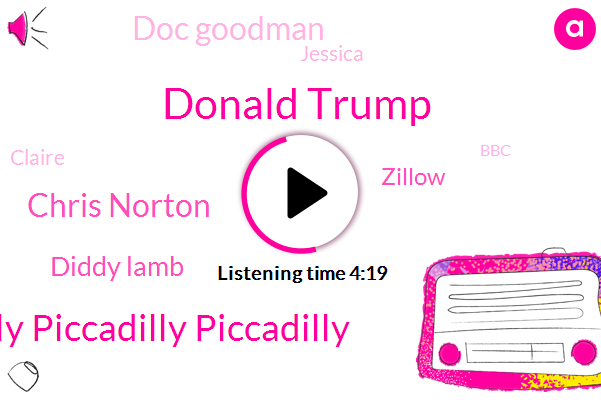 Donald Trump,Piccadilly Piccadilly Piccadilly,Chris Norton,Diddy Lamb,Zillow,Doc Goodman,Jessica,Claire,BBC,William Rennick,Phil Henry