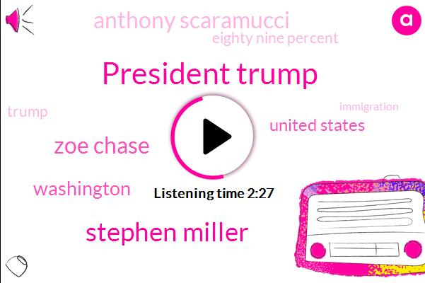 President Trump,Stephen Miller,Zoe Chase,Washington,United States,Anthony Scaramucci,Eighty Nine Percent