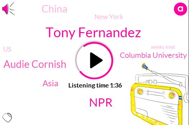 Tony Fernandez,NPR,Audie Cornish,Asia,Columbia University,China,New York,United States,Weeks Inlet