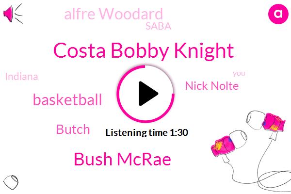 Costa Bobby Knight,Bush Mcrae,Basketball,Butch,Nick Nolte,Alfre Woodard,Saba,Indiana