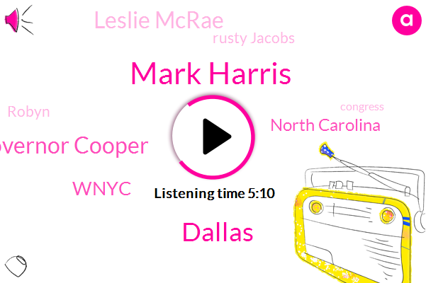 Mark Harris,Dallas,Governor Cooper,Wnyc,North Carolina,Leslie Mcrae,Rusty Jacobs,Robyn,Congress,Chapel Hill,Bladen County,Reporter,Wake County,Robert Pittenger,DAN,Congressman