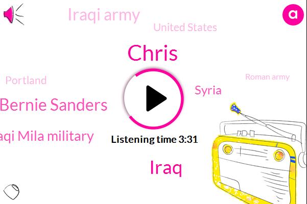 Chris,Iraq,Bernie Sanders,Iraqi Mila Military,Syria,Iraqi Army,United States,Portland,Roman Army,Salem,Tulsi Gabbard,Oregon,Donald Trump,Pinkerton,Hawaii,Democrat Party,President Zeeshan,Senate,Afghanistan