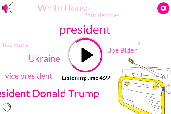 President Donald Trump,Ukraine,President Trump,Vice President,Joe Biden,White House,Four Decades,Five Years