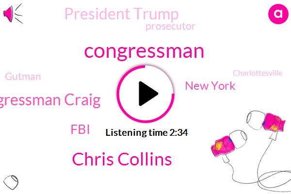 Congressman,Chris Collins,Congressman Craig,FBI,New York,President Trump,Prosecutor,Gutman,Charlottesville,Congress,Million Dollars,Eight Thousand Dollars